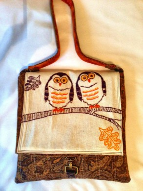 Hootie Bag, re-purposed from a vintage dish towel!