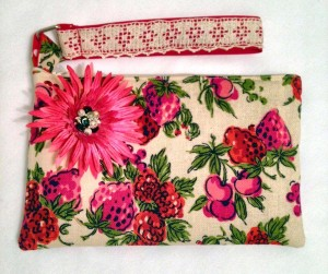 Strawberry Fields Wristlet, perfect for a day in the West Bottoms or a summer music festival!